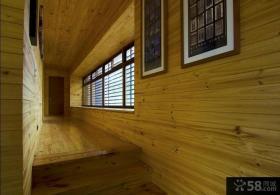 日式复式家居室内实木装修效果图