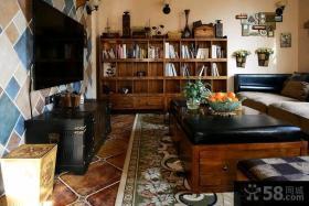 美式田园风格别墅卧室装修效果图2015