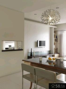 64平简约风格一居室户型装修效果图