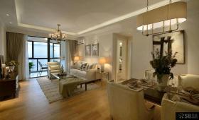 现代美式二居室装修样板间效果图大全