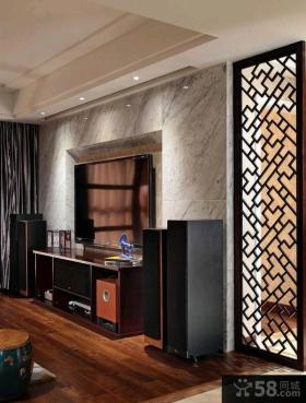 中式一居室小户型室内装修样板间效果图