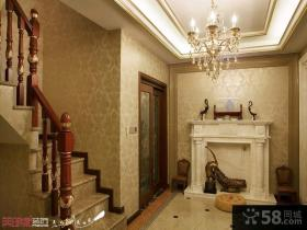 古典欧式复式楼客厅装修效果图
