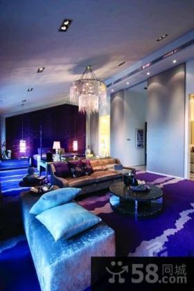 现代风格大客厅吊顶效果图