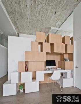 个性简约风格家庭办公室设计