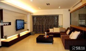 美式装修小客厅电视背景墙欣赏