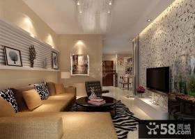 简约客厅电视背景墙装修效果图大全2013图欣赏