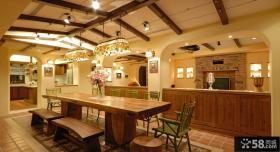乡村美式别墅餐厅设计图片