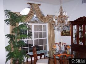餐厅窗帘吊顶效果图