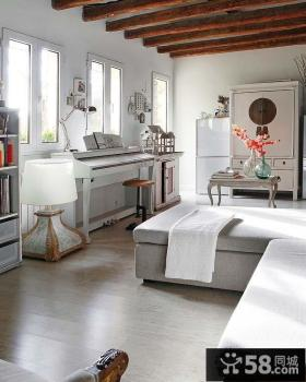 北欧风格小户型客厅装修效果图大全2014图片