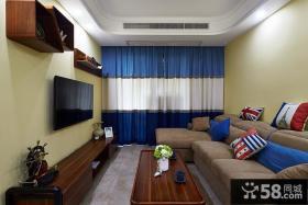 美式小客厅电视背景墙设计