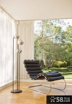 现代风格客厅阳台装修 开放式阳台装修效果图大全2012图片