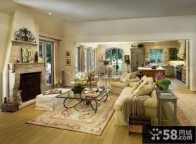 三室两厅两卫欧式奢华的客厅装修效果图