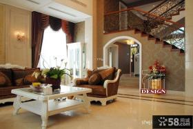 大复式楼客厅装修效果图