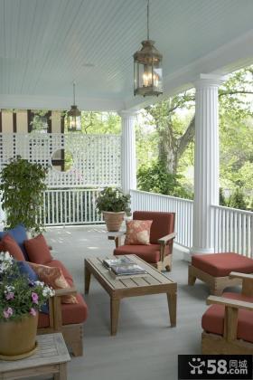 别墅阳台装饰设计效果图