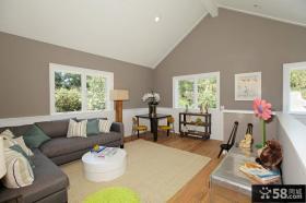 灰色素雅的客厅沙发背景墙装修效果图大全2012图片