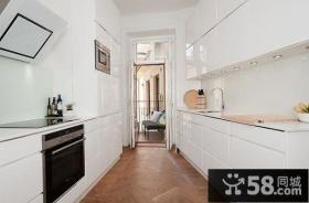 80平小户型北欧风格厨房装修效果图大全2012图片