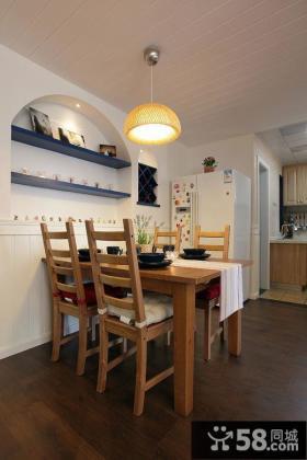 地中海风格小户型餐厅装修设计效果图