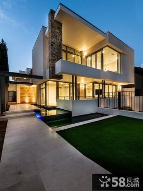 现代欧式别墅外观效果图