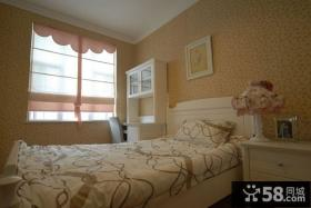 欧式田园小卧室壁纸装修效果图欣赏