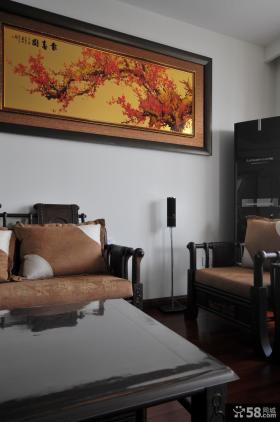 中式家居客厅装饰画效果图2014