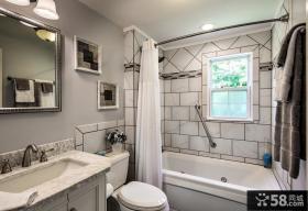 卫生间全抛釉瓷砖效果图大全