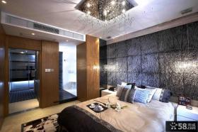 主卧室床头3D壁纸图片
