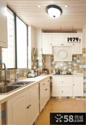 地中海设计风格厨房瓷砖效果图