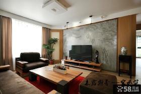 简约中式客厅电视背景墙效果图大全