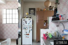 7万打造温馨欧式风格小户型厨房橱柜装修效果图大全2014图片