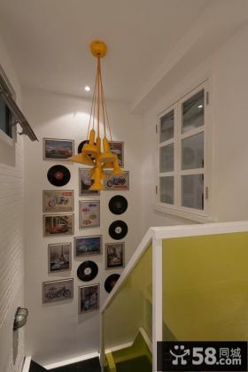时尚混搭风格楼梯间相片墙装饰效果图