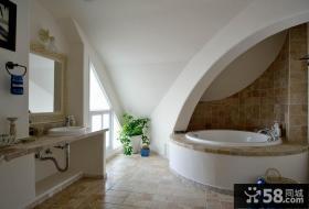 地中海风格别墅室内卫生间效果图片