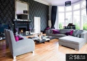 北欧设计时尚客厅飘窗图片