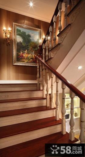 别墅楼梯装饰画图片