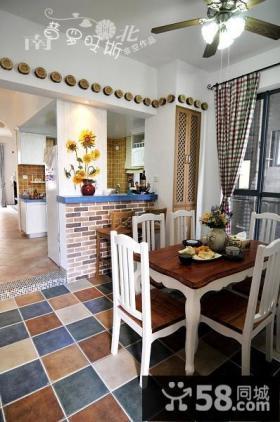 地中海风格客厅装修效果图片-非空设计