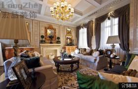现代欧式风格别墅客厅装修效果图欣赏
