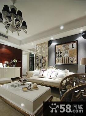 欧式两室两厅客厅装饰画效果图