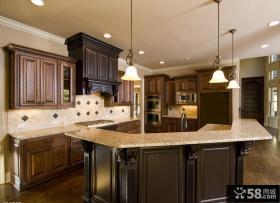 别墅半开放式厨房设计效果图