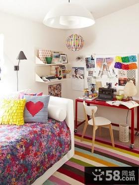 美式田园风格卧室装修效果图大全2014图片