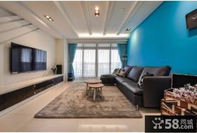70平米现代风格公寓家装效果图