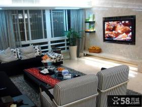 普通家庭装修客厅电视背景墙图片