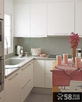 欧式家居厨房橱柜装修效果图大全2014图片