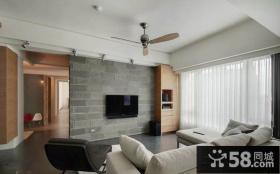 后现代风格客厅电视背景墙装修效果图欣赏