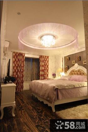 欧式风格卧室圆形吊顶效果图