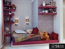 30平超小户型卧室壁纸装修效果图