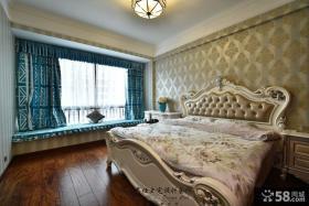 欧式家居卧室飘窗装饰效果图