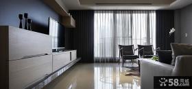 后现代风格家装室内客厅电视背景墙效果图