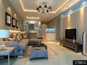 欧式小客厅电视背景墙效果图欣赏