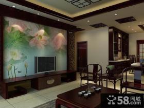 新中式电视背景墙装修效果图欣赏