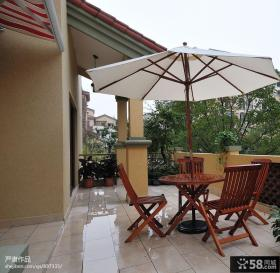 美式风格别墅露天阳台效果图