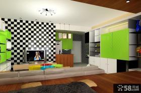 马赛克瓷砖客厅电视背景墙装修效果图大全